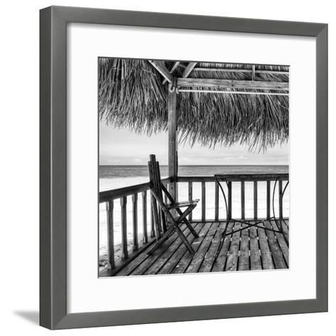 Cuba Fuerte Collection SQ BW - Serenity II-Philippe Hugonnard-Framed Art Print