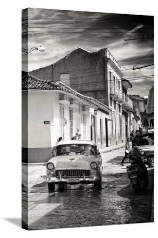 Cuba Fuerte Collection B&W - Taxi Trinidad-Philippe Hugonnard-Stretched Canvas Print