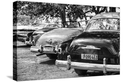 Cuba Fuerte Collection B&W - Retro Vintage Cars II-Philippe Hugonnard-Stretched Canvas Print