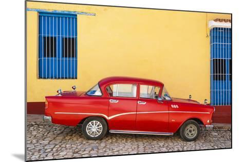 Cuba Fuerte Collection - Red Classic Car in Trinidad-Philippe Hugonnard-Mounted Photographic Print
