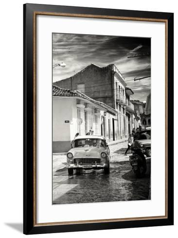 Cuba Fuerte Collection B&W - Taxi Trinidad-Philippe Hugonnard-Framed Art Print
