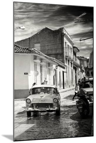 Cuba Fuerte Collection B&W - Taxi Trinidad-Philippe Hugonnard-Mounted Photographic Print