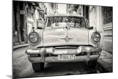 Cuba Fuerte Collection B&W - Old American Taxi Car-Philippe Hugonnard-Mounted Photographic Print