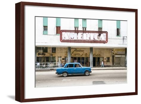 Cuba Fuerte Collection - Teatro America in Havana-Philippe Hugonnard-Framed Art Print