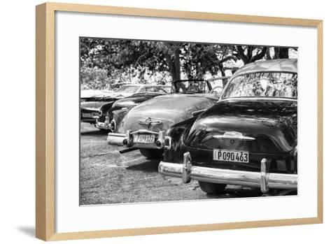 Cuba Fuerte Collection B&W - Retro Vintage Cars II-Philippe Hugonnard-Framed Art Print