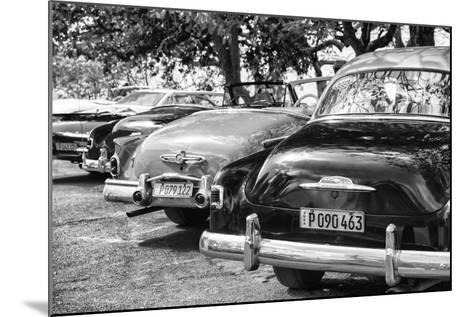 Cuba Fuerte Collection B&W - Retro Vintage Cars II-Philippe Hugonnard-Mounted Photographic Print