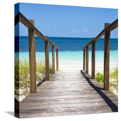 Cuba Fuerte Collection SQ - Boardwalk on the Beach II-Philippe Hugonnard-Stretched Canvas Print