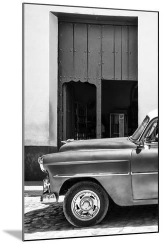 Cuba Fuerte Collection B&W - Detail of Classic Car II-Philippe Hugonnard-Mounted Photographic Print