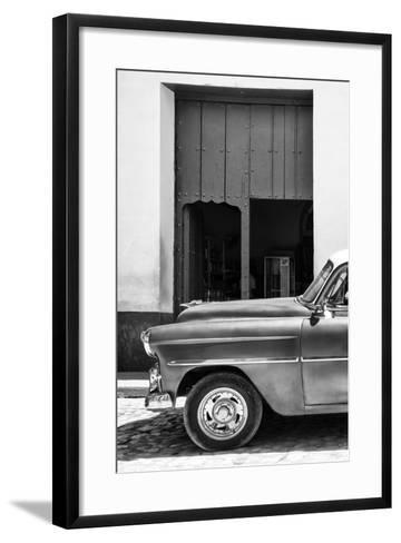 Cuba Fuerte Collection B&W - Detail of Classic Car II-Philippe Hugonnard-Framed Art Print