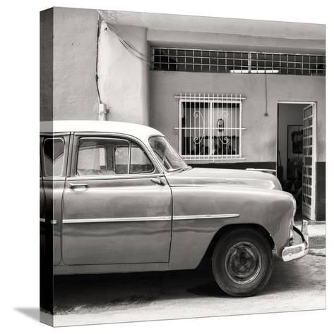 Cuba Fuerte Collection SQ BW - Vintage Car of Havana-Philippe Hugonnard-Stretched Canvas Print