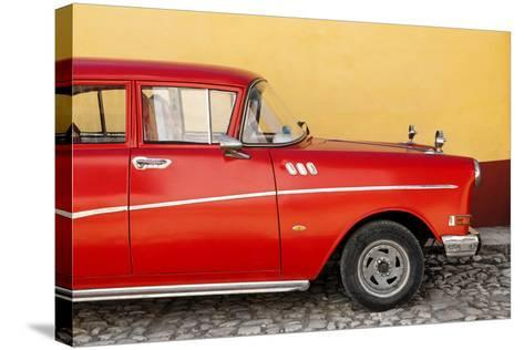 Cuba Fuerte Collection - Close-up of Retro Red Car-Philippe Hugonnard-Stretched Canvas Print