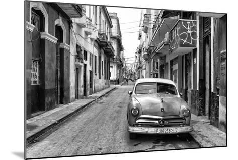 Cuba Fuerte Collection B&W - Old Ford Car in Havana-Philippe Hugonnard-Mounted Photographic Print