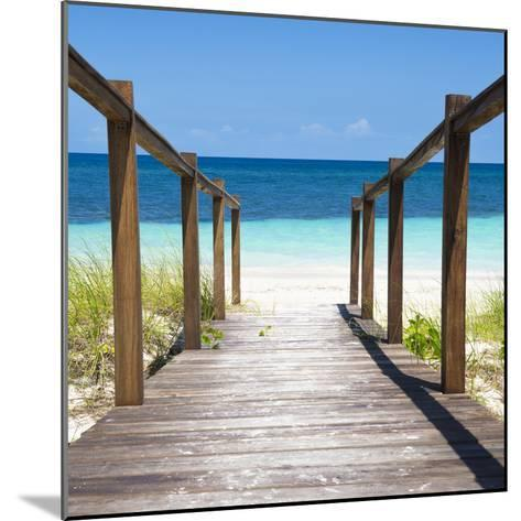 Cuba Fuerte Collection SQ - Boardwalk on the Beach II-Philippe Hugonnard-Mounted Photographic Print