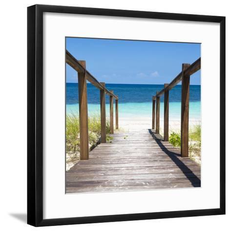 Cuba Fuerte Collection SQ - Boardwalk on the Beach II-Philippe Hugonnard-Framed Art Print