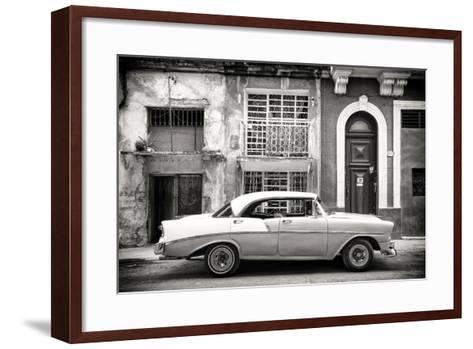 Cuba Fuerte Collection B&W - Classic American Car in Havana-Philippe Hugonnard-Framed Art Print