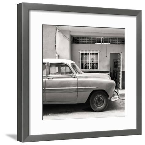Cuba Fuerte Collection SQ BW - Vintage Car of Havana-Philippe Hugonnard-Framed Art Print