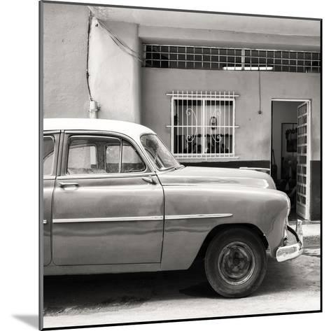 Cuba Fuerte Collection SQ BW - Vintage Car of Havana-Philippe Hugonnard-Mounted Photographic Print