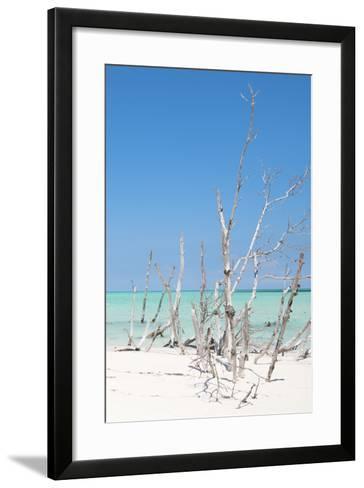 Cuba Fuerte Collection - Wild White Sand Beach III-Philippe Hugonnard-Framed Art Print