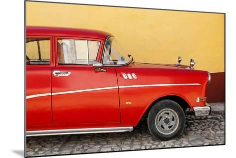 Cuba Fuerte Collection - Close-up of Retro Red Car-Philippe Hugonnard-Mounted Photographic Print