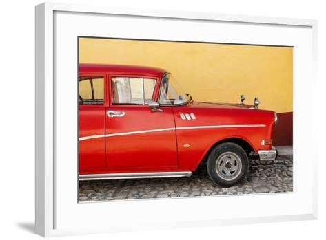 Cuba Fuerte Collection - Close-up of Retro Red Car-Philippe Hugonnard-Framed Art Print