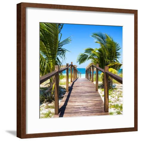 Cuba Fuerte Collection SQ - Wooden Jetty on the Beach-Philippe Hugonnard-Framed Art Print