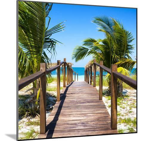 Cuba Fuerte Collection SQ - Wooden Jetty on the Beach-Philippe Hugonnard-Mounted Photographic Print