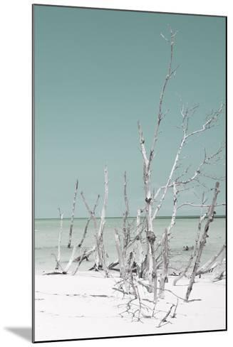 Cuba Fuerte Collection - Wild White Sand Beach III - Pastel Coral Green-Philippe Hugonnard-Mounted Photographic Print