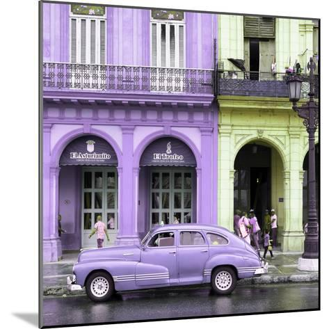 Cuba Fuerte Collection SQ - Colorful Architecture and Mauve Classic Car-Philippe Hugonnard-Mounted Photographic Print