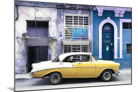 Cuba Fuerte Collection - Yellow Classic Car in Havana-Philippe Hugonnard-Mounted Photographic Print