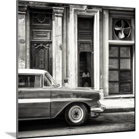 Cuba Fuerte Collection SQ BW - Old Classic American Car-Philippe Hugonnard-Mounted Photographic Print