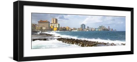 Cuba Fuerte Collection Panoramic - Malecon Wall of Havana-Philippe Hugonnard-Framed Art Print