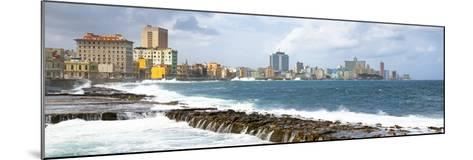 Cuba Fuerte Collection Panoramic - Malecon Wall of Havana-Philippe Hugonnard-Mounted Photographic Print