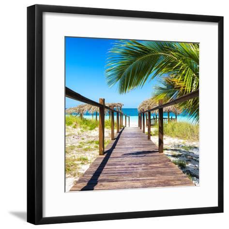 Cuba Fuerte Collection SQ - Way to the Beach-Philippe Hugonnard-Framed Art Print