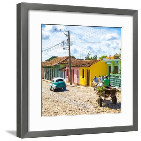 Cuba Fuerte Collection SQ - Trinidad Street Scene II-Philippe Hugonnard-Framed Art Print