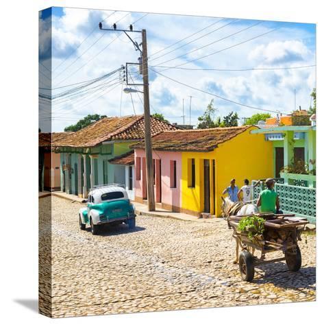 Cuba Fuerte Collection SQ - Trinidad Street Scene II-Philippe Hugonnard-Stretched Canvas Print
