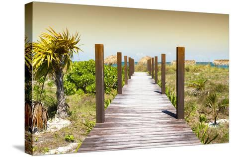 Cuba Fuerte Collection - Wild Beach Jetty at Sunset-Philippe Hugonnard-Stretched Canvas Print