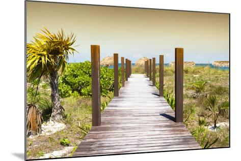 Cuba Fuerte Collection - Wild Beach Jetty at Sunset-Philippe Hugonnard-Mounted Photographic Print