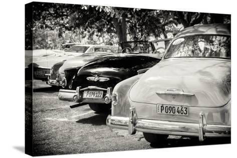 Cuba Fuerte Collection B&W - Retro Vintage Cars-Philippe Hugonnard-Stretched Canvas Print
