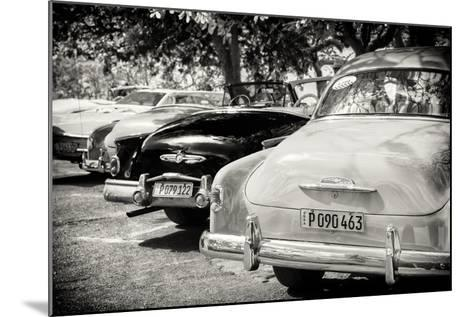 Cuba Fuerte Collection B&W - Retro Vintage Cars-Philippe Hugonnard-Mounted Photographic Print