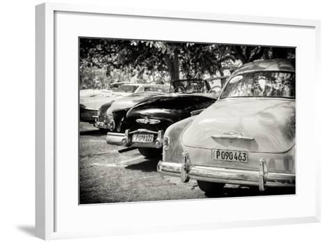 Cuba Fuerte Collection B&W - Retro Vintage Cars-Philippe Hugonnard-Framed Art Print