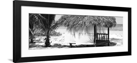 Cuba Fuerte Collection Panoramic BW - Paradise Beach Hut-Philippe Hugonnard-Framed Art Print