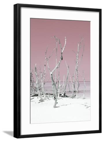 Cuba Fuerte Collection - Wild White Sand Beach II - Pastel Pink-Philippe Hugonnard-Framed Art Print