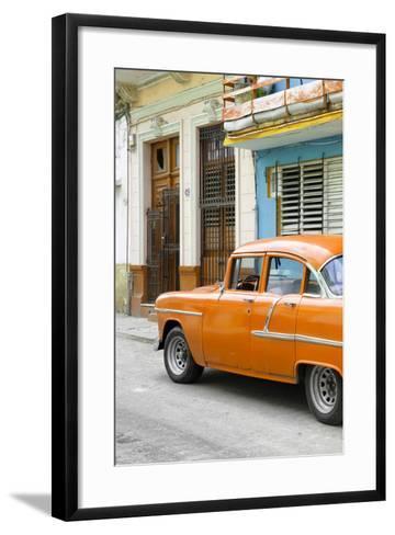 Cuba Fuerte Collection - Vintage Cuban Orange Car-Philippe Hugonnard-Framed Art Print