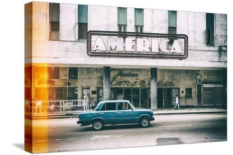 Cuba Fuerte Collection - Teatro America in Havana II-Philippe Hugonnard-Stretched Canvas Print