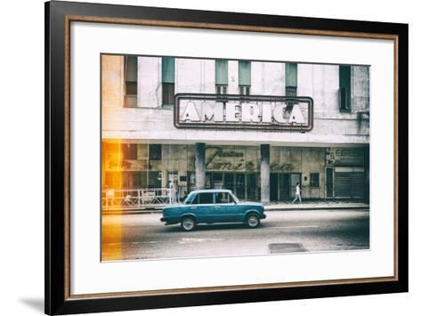 Cuba Fuerte Collection - Teatro America in Havana II-Philippe Hugonnard-Framed Art Print