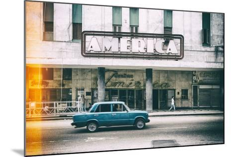Cuba Fuerte Collection - Teatro America in Havana II-Philippe Hugonnard-Mounted Photographic Print