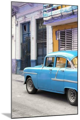 Cuba Fuerte Collection - Vintage Cuban Blue Car-Philippe Hugonnard-Mounted Photographic Print