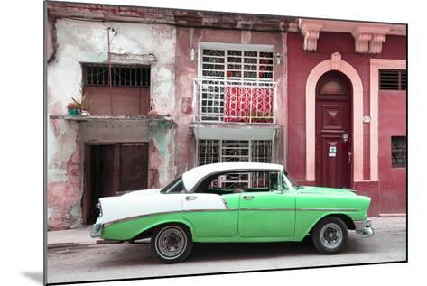 Cuba Fuerte Collection - Green Classic Car in Havana-Philippe Hugonnard-Mounted Photographic Print