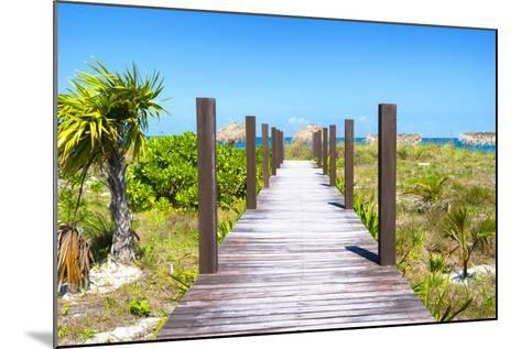 Cuba Fuerte Collection - Wild Beach Jetty-Philippe Hugonnard-Mounted Photographic Print