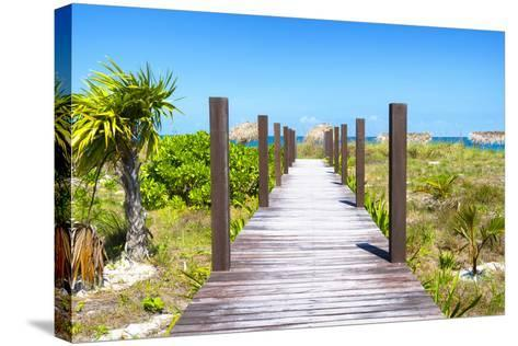 Cuba Fuerte Collection - Wild Beach Jetty-Philippe Hugonnard-Stretched Canvas Print
